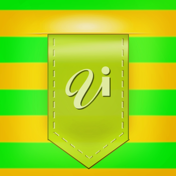 icon arrow pattern of green and yellow. 3D illustration. Vintage style.