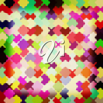 Colorfull pazzle background . 3D illustration. Vintage style.