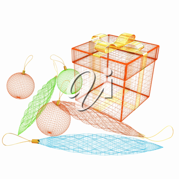 colorful gift box concept. 3d illustration