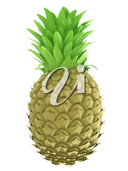 pineapple.3d illustration