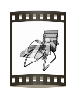 Medical chair for cosmetology. 3d illustration. The film strip.