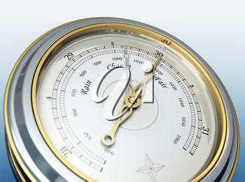 3d render of a barometer