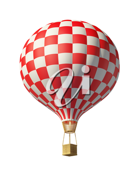 Isolated on white 3d red-white balloon