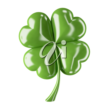 3d shiny leaf clover for your St.Patrick's Day design