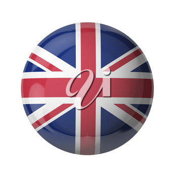 3D flag of United Kingdom isolated on white