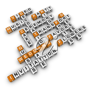 wedding checklist   (3D crossword orange series)