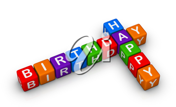 happy birthday colorful sign