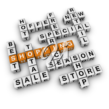 shopping  (3D crossword orange series)