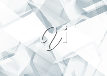 Abstract white technology background useful as a wallpaper image. 3d render illustration