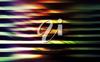 Abstract digital background with shining colorful blurred lines on black