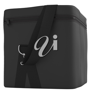 Luggage strap with black on a white background