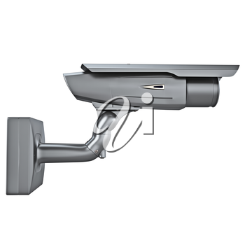 Outdoor video camera security with a protective element isolated on a white background