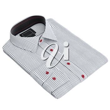Classic shirt striped. 3D graphic object on white background isolated