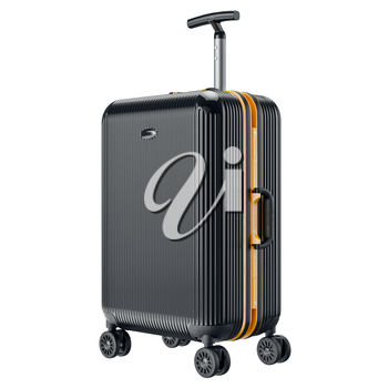 Travel large luggage. 3D graphic object isolated on white background