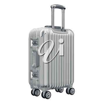 Baggage travel red. 3D graphic object isolated on white background