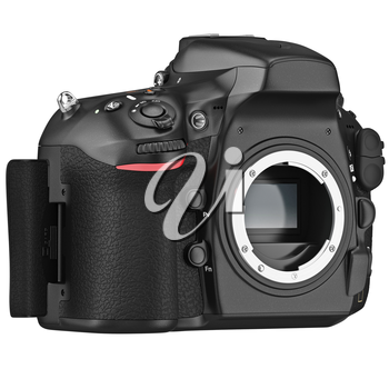 DSLR camera device professional without lens. 3D graphic