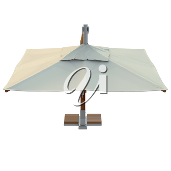 Patio umbrella square for rest, top view. 3D graphic