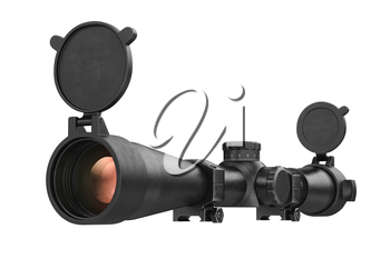 Scope optical weapon accuracy device. 3D rendering