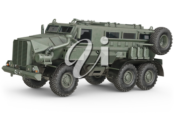 Truck military car defense transportation. 3D rendering