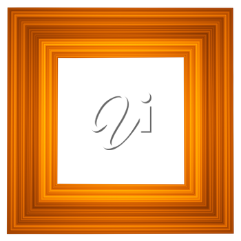 Wooden picture frame isolated abstract illustration