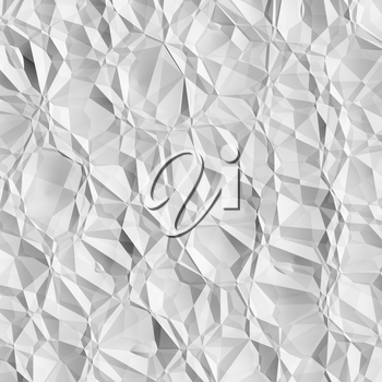 Crumpled white paper texture background illustration