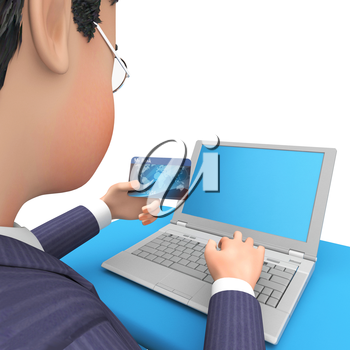 Credit Card Representing World Wide Web And Website 3d Rendering