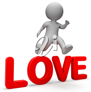 Love Jump Meaning I Did It And Compassion 3d Rendering