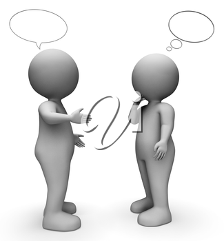 Speech Bubble Indicating Copy Space And Characters 3d Rendering