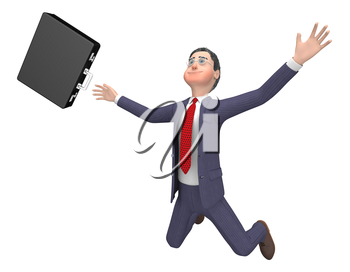 Character Falling Meaning Business Person And Render 3d Rendering