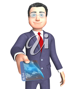 Credit Card Representing Illustration Bought And Finance 3d Rendering
