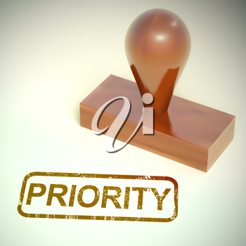 Priority concept icon means important or crucial documents. Urgent Express letter for immediate attention - 3d illustration