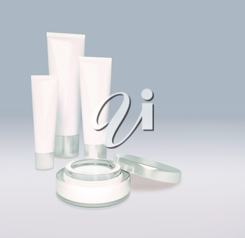 Skin care isolated on gray.