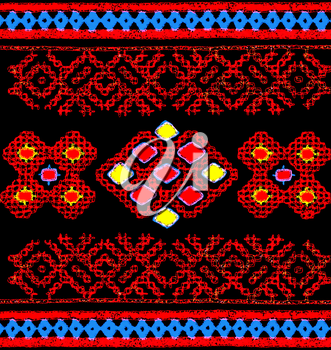 Traditional russian embroidery pattern.