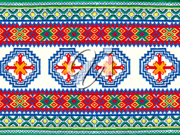 Mordovian national embroidery.