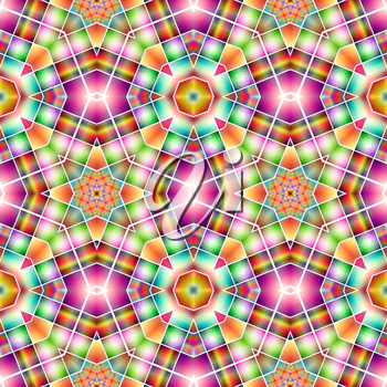 Colorful kaleidoscope pattern. Abstract background ideal for wallpaper pattern and other work.