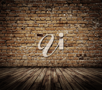 Vintage brickwall 3d background. All textures my own
