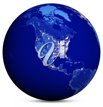 Earth map. Elements of this image furnished by NASA 3d rendering