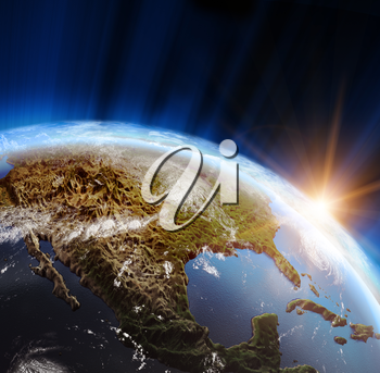 America. Elements of this image furnished by NASA 3d rendering