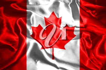 Canadian National Flag 3D Rendering